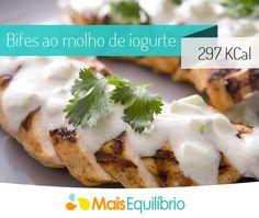Filés ao molho de iogurte, apenas 297 Calorias http://maisequilibrio.com.br/bifes-ao-molho-de-iogurte-8-2-7-2337.html