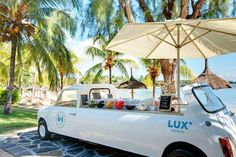 Lovely ice cream car by the beach at LUX* Grand Gaube #mauritius #mini #icecream www.luxresorts.com