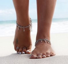 Merin Silver Chain Anklet