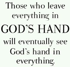 Gods hands in everything!