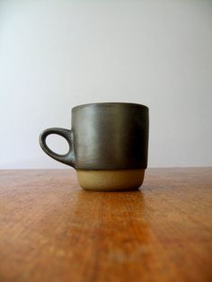 Vintage Heath Ceramics Low Handled Stacking Mug  Matte by luola on etsy