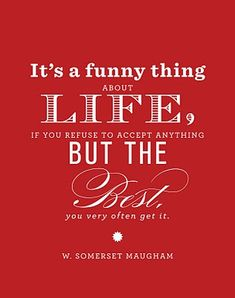 Quotes - Funny Thing About Life Red Thumb