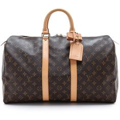 What Goes Around Comes Around Louis Vuitton Monogram Keep All Bag - Brown