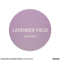 Colourshot Lavender Field Coaster.  Brighten your kitchen with a set of mugs and matching coasters celebrating simple, solid colour - LyricalSixties has a whole range of bright colours to choose from, each displaying an appropriate name and its hex value.   This particular coaster is a light purple lilac lavender and called LAVENDER FIELD - #a777b3.  It's set up as a template so, if you prefer, the name and / or hex value can easily be changed to text of your choice.