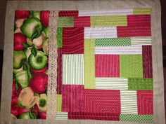 #Patchwork #jogoamericano #quilt as you go