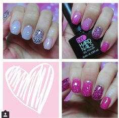 """Mothers Day Nails- """"Pink Frost"""" color changing gel goes from frosted white to… Creative Nail Designs, Diy Nail Designs, Creative Nails, Hot Nails, Hair And Nails, Diy Hard Nails, Valentine Nail Art, Latest Nail Art, Nail Candy"""