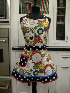 Mod Print Double Skirted Sweetheart Apron by MyEmptyNestDesigns, $36.50
