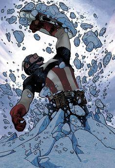 Captain America Adam Hughes Variant Marvel NOW 2012 - Ultimate Comics Comic Book Artists, Comic Book Characters, Marvel Characters, Comic Character, Comic Books Art, Comic Art, Arte Dc Comics, Marvel Comics Art, Bd Comics