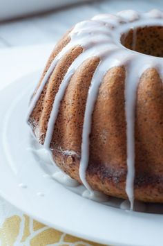 Poppy Seed Marzipan Cake