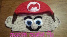 Cappellino Super Mario uncinetto