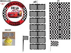 """THEME """"CARS"""" DECOR DE FETE POUR FAIRE PLAISIR - 1 et 2 et 3 DOUDOUS * PATRONS* PATTERNS * GABARITS FETE A THEMES POUR ENFANTS"""