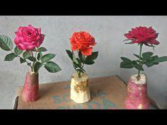 Coloquei galhos de ROSAS na batata doce e veja o que aconteceu! - YouTube Garden Projects, Projects To Try, Garden Shower, Growing Roses, Desert Rose, Garden Plants, Glass Vase, Cactus, Lily