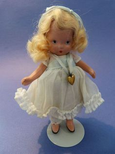 "RARE NANCY ANN STORYBOOK DOLL; ""LUCY LOCKET"" PUDGY TUMMY/MOLDED SOX!"