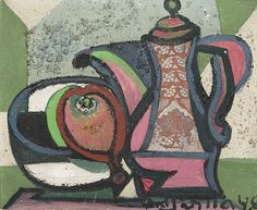 """Emil Filla  1948 €53.846,-  2010    """"Still-life with Goblets and Bunch of Grapes"""""""