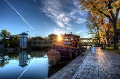 Tugboat Seneca on the Erie Canal