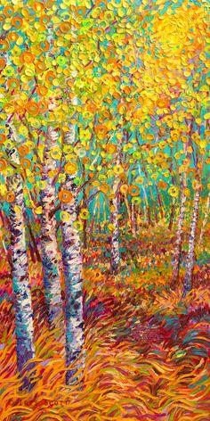 Candyland | 24x48in   Original Available Iris Scott Oil Finger paint