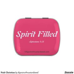 Spirit Filled Pink Christian Candy Tins #PraiseHImInPink