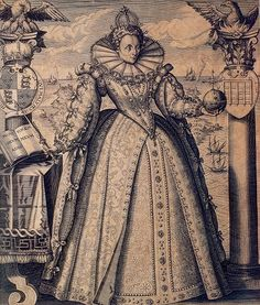 An illustration of Queen Elizabeth I showing signs of age (this is rare, since her image in portraiture was strictly regulated by government officials). By Vandepasse.