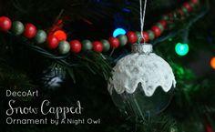 http://anightowlblog.com/2012/12/trim-your-tree-decoart-snow-capped-ornament-giveaway.html