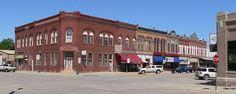 Main Street of Hooper, Nebraska, where I grew up