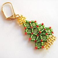 Homemade beaded Christmas tree, actually not for tree but for you