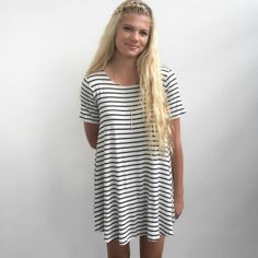 Everyone should own a cute summer striped dress, right?