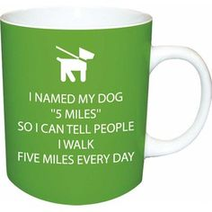 Paperproducts Design Funny Walk 5 Miles Mug