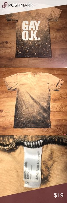 American Apparel Gay Pride Custom Galaxy shirt Perfect for a pride festival! This v-neck is a one of a kind galaxy tee. Super soft and very trendy! American Apparel Tops