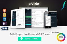 Wide - Fully Responsive MYBB Theme  by ThemeSteam.com on @Graphicsauthor