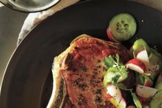 Whirl these flavors together to create a rich corn puree that's delicious with pork chops. Get the recipe for Pork Chops and Cotija Corn Puree With Radish, Cucumber, and Lime Salad. Lime Salad Recipes, Pork Chop Recipes, Pork Chops, Allrecipes, Cucumber, Main Dishes, Menu, Create, Ideas