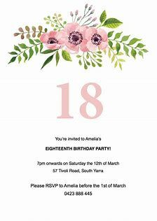 Image Result For Free Invitation Templates For Word Birthday