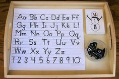 Montessori-Inspired Snowman Letter Activities