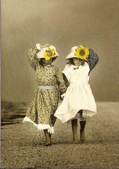 Kansas girls with their sunflower bonnets!