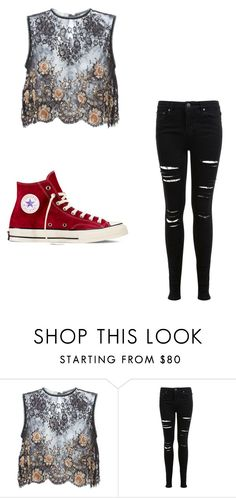 """Untitled #144"" by sierrapalmer10 on Polyvore featuring Alessandra Rich, Miss Selfridge and Converse"
