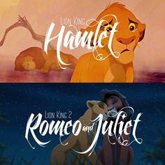 Lion king 1 / lion king 2 / Hamlet / Romeo and Juliet / Disney