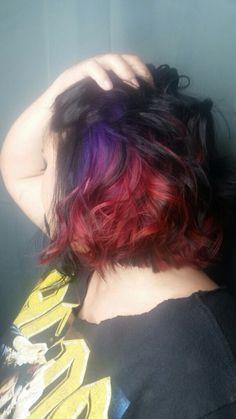 Underlights Long Curly Hair, Big Hair, Curly Hair Styles, Hidden Hair Color, Cool Hair Color, Hair Colour, Underlights Hair, Hair Images, Hairstyle Images