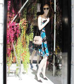 DIOR FLORAL SPRING WINDOW DISPLAY 2014 More photos: http://thebwd.com/dior-floral-spring-window-display-2014/ #Dior #ChristianDior #floral #DiorSoReal #windowdisplay #spring #springwindows