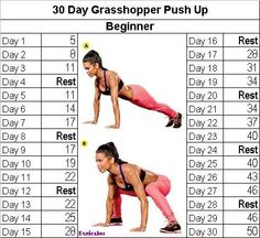 Grasshopper push-up challenge
