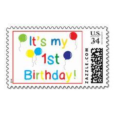First Birthday Postage Stamp