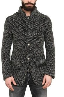Gucci chunky knit wool cardigan