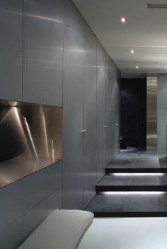 steel open shelf -Master bedroom inside the Yolles Residence in Toronto by Jonhson Chou Architects _ Modern Interior Design, Interior Architecture, Interior And Exterior, Style Parisienne, Visual Comfort, Inspired Homes, Modern Luxury, Modern Minimalist, Interior Inspiration