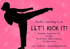 Time to Kick It Birthday Invite by freshlycutcards on Etsy, $14.00