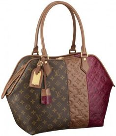 LV Monogram Blocks Zipped Tote Bordeaux    Love at first sight ♥   Buying this for sure :)