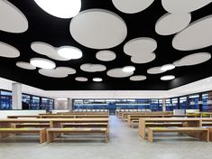 corporate, canteen, light, ceiling, modern style, Breuninger Kantine by DIA – Dittel Architekten