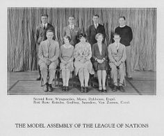 Grand Rapids Junior College delegates attended the Inter-Collegiate Model Assembly of the League of Nations, now known as the Model United Nations, for the first time in 1929.