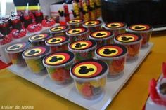 Mickey Mouse Themed Birthday Party - Kara's Party Ideas - The Place for All Things Party by elma Bolo Mickey E Minnie, Mickey Mouse Favors, Minie Mouse Party, Mickey Mouse Centerpiece, Fiesta Mickey Mouse, Mickey Mouse Parties, Mickey Party, Baby Mickey, Mickey Mouse First Birthday