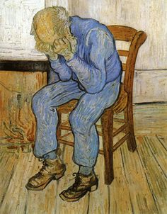 """gifmovie: """" Vincent van Gogh - Old Man in Sorrow (On the Threshold of Eternity) (1890) """""""