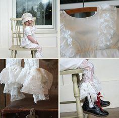 eden's bouquet Loire Valley Dress & Lace Bow Leggings