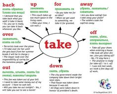 #take + #preposition, #phrasal #verbs, Your Skype School #study #material