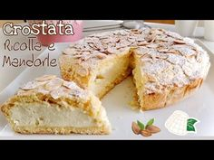 TARTA DE RICOTTA Y ALMENDRAS CREMOSAS rápida y fácil TARTA DE RICOTTA Y ALMENDRAS - YouTube Pastry Recipes, Tart Recipes, Almond Recipes, Sweets Recipes, Cooking Recipes, Snack Recipes, Almond Flour Cakes, Almond Pastry, Ricotta Dessert